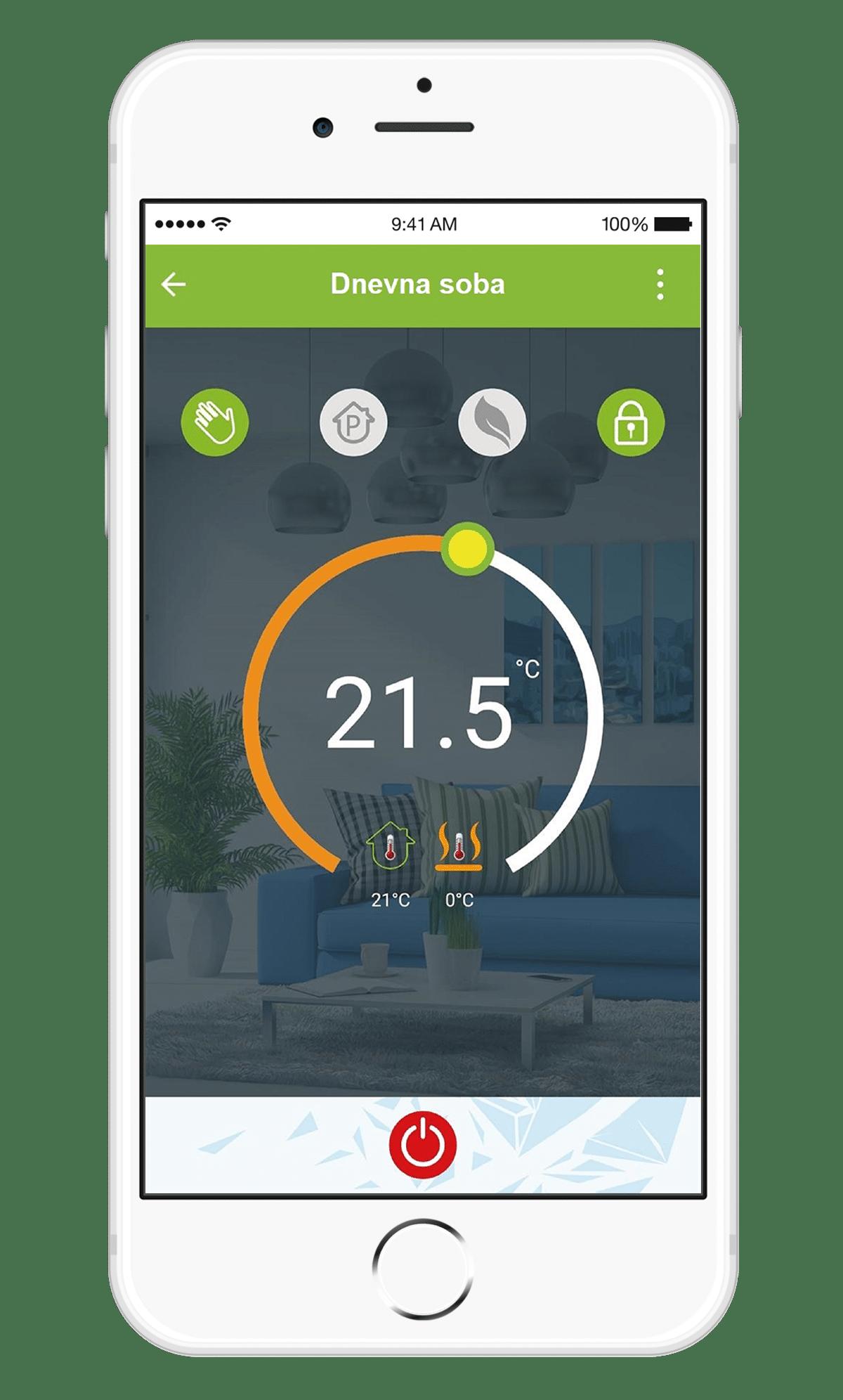 aplikacija za upravljanje pametnim termostatom