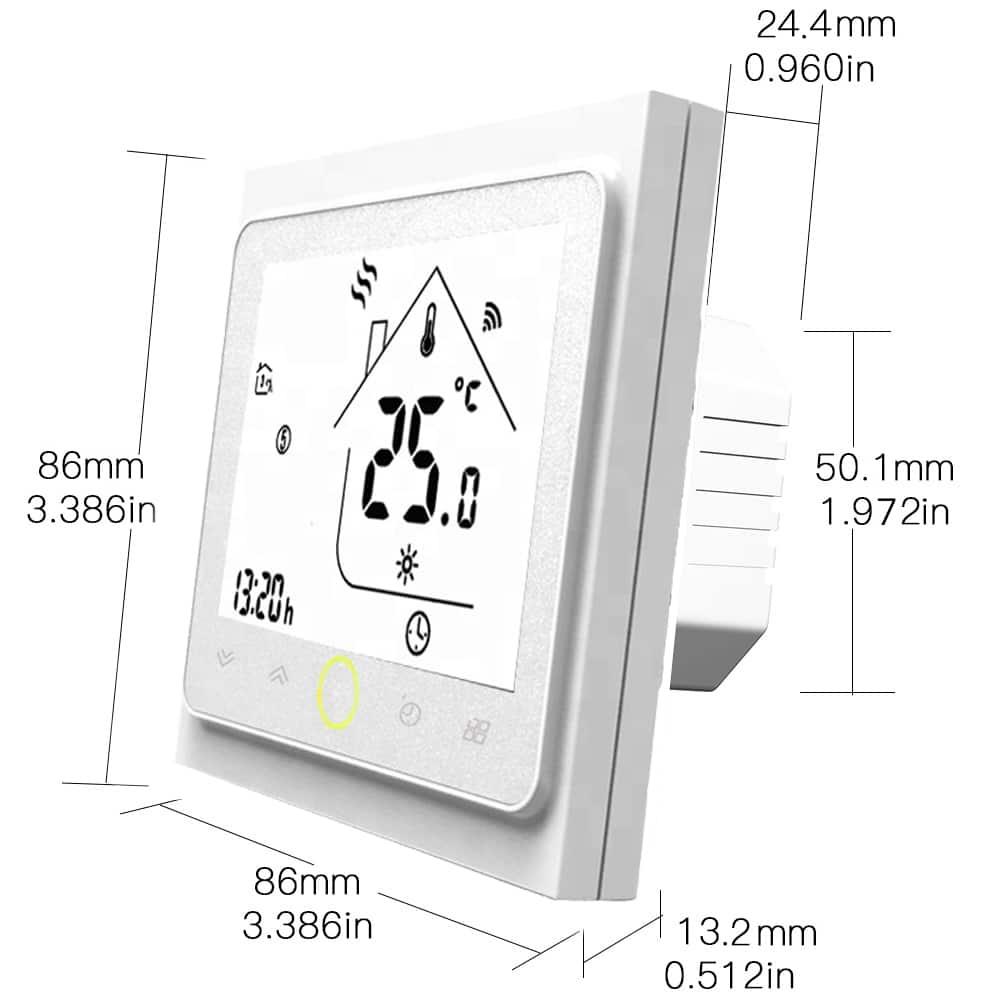 wifi pametni termostat dimenzije